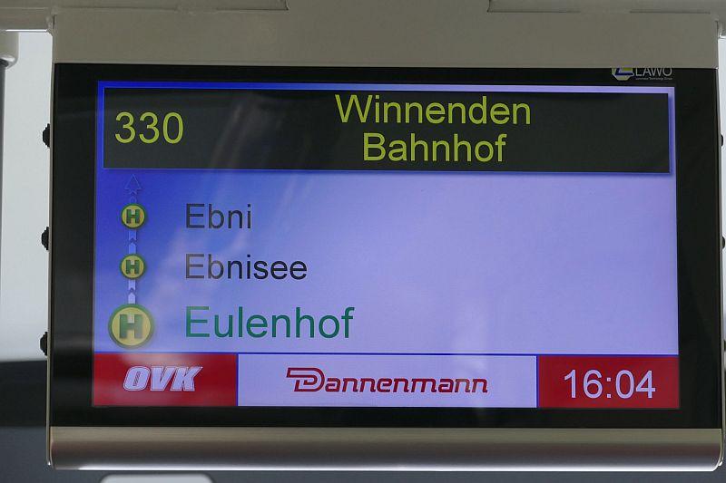 Neue Buslinie 330 zwischen Winnenden und Kaisersbach